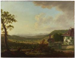 J. L. Aberli, sans titre, vers 1762, technique: huile, Cabinet des estampes, Bibliothèque nationale suisse